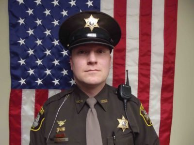 Photo courtesy of Otsego County Sheriff's Department Otsego County Deputy Justin Holzschu was one of three officers honored for working together to save the life of a 2-year-old boy trapped in a house fire.