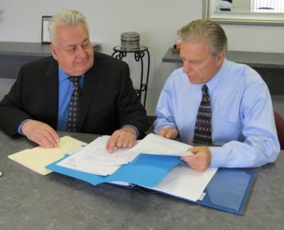 The new POLC/GELC Director Rob Figurski (left) was appointed to the position by the Executive Committee. Richard Weiler (right) retired after 32 years with the Union in August.